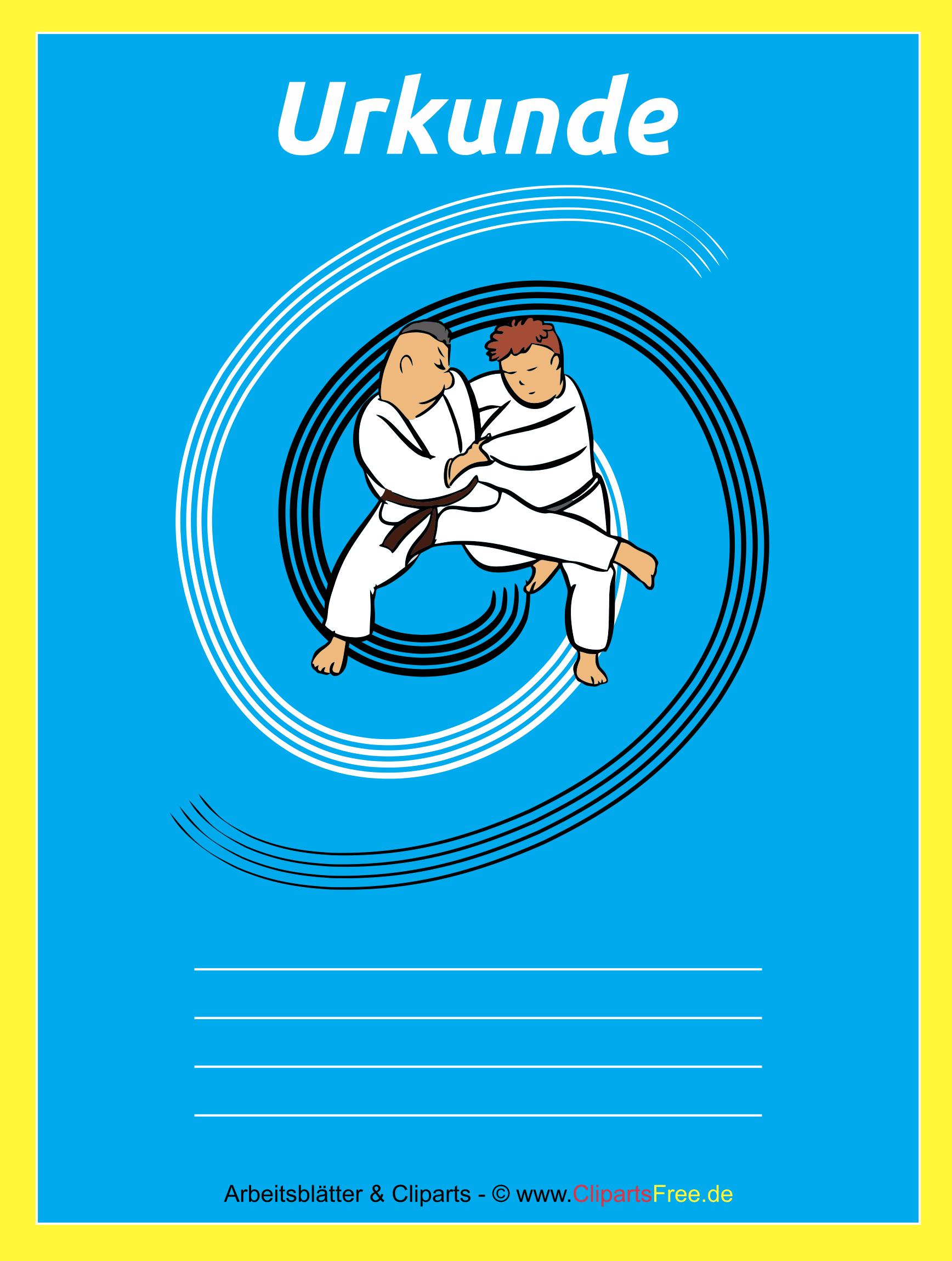 Urkunde Judo kostenlos zum Ausdrucken