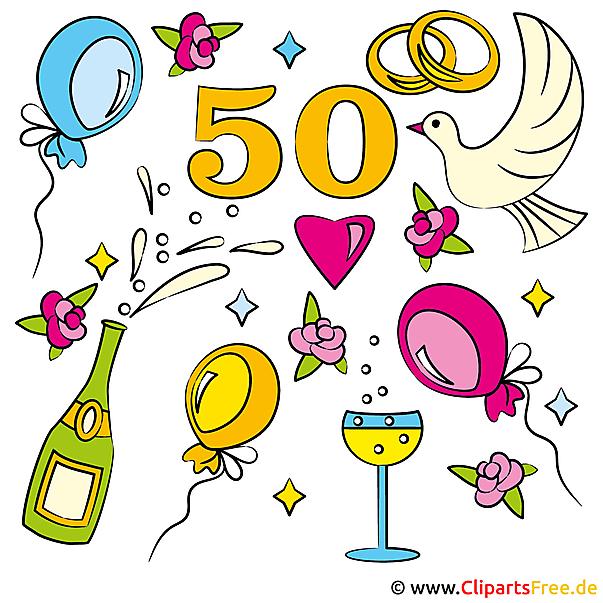 Hochzeitstage 50 Goldene Hochzeit Gluckwunschkarte