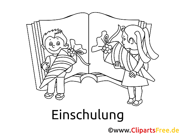 学校に戻って、学校の入学に関する主題の絵を着色