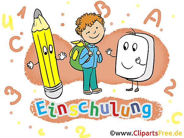 Einladung zum Schulanfang mit unseren Cliparts gestalten