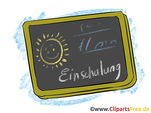 学校の黒板イメージ、クリップアート、学校の始まりのグラフィック