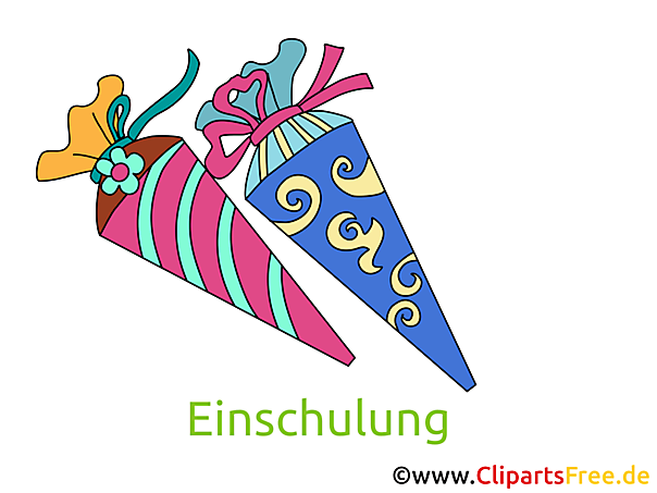 Schultüten Bilder, Cliparts, Illustrationen