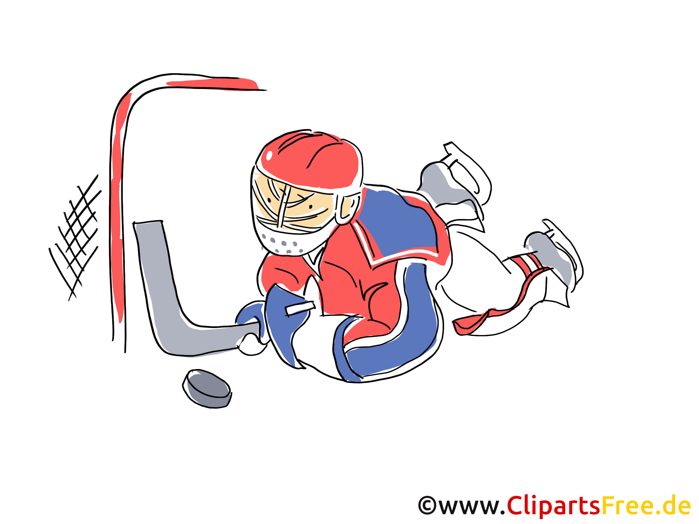 Attacke Eishockey Bild, Illustration, Clipart, Comic, Cartoon gratis