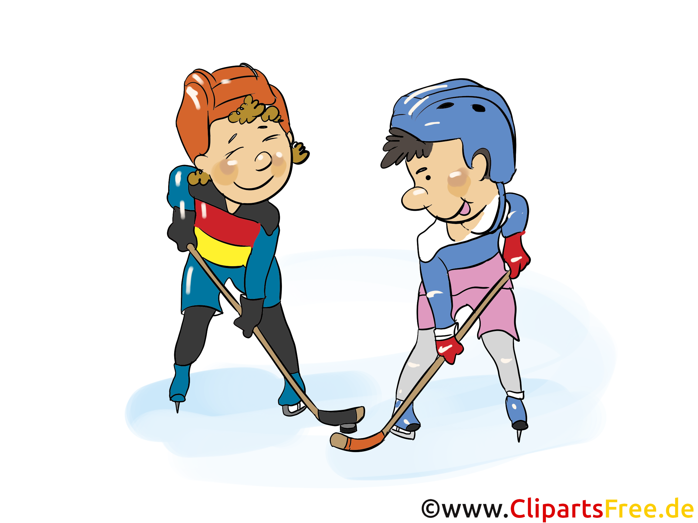 Cartoon Eishockey kostenlos