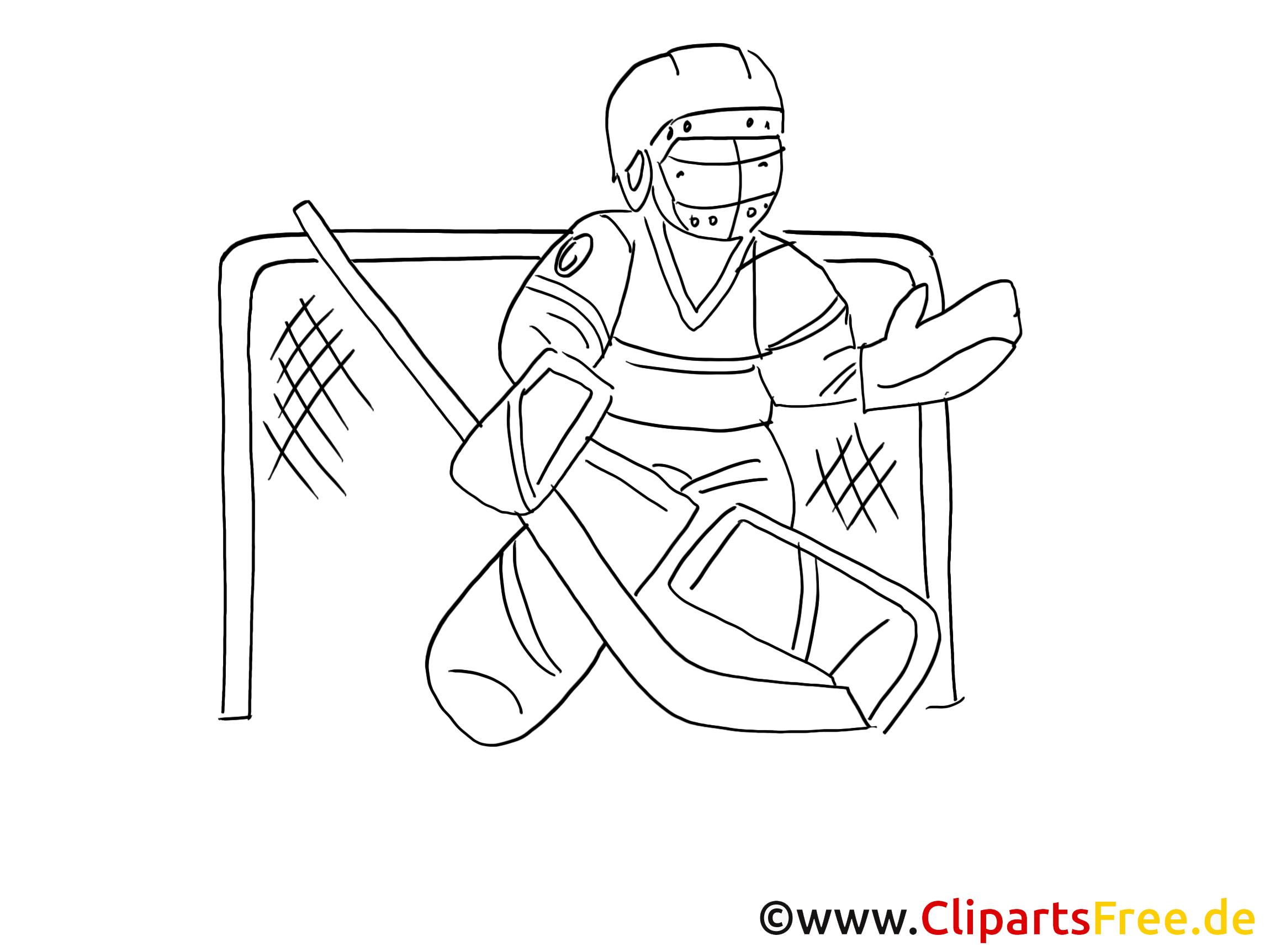 Eishockey Torwart Ausmalbild Gratis