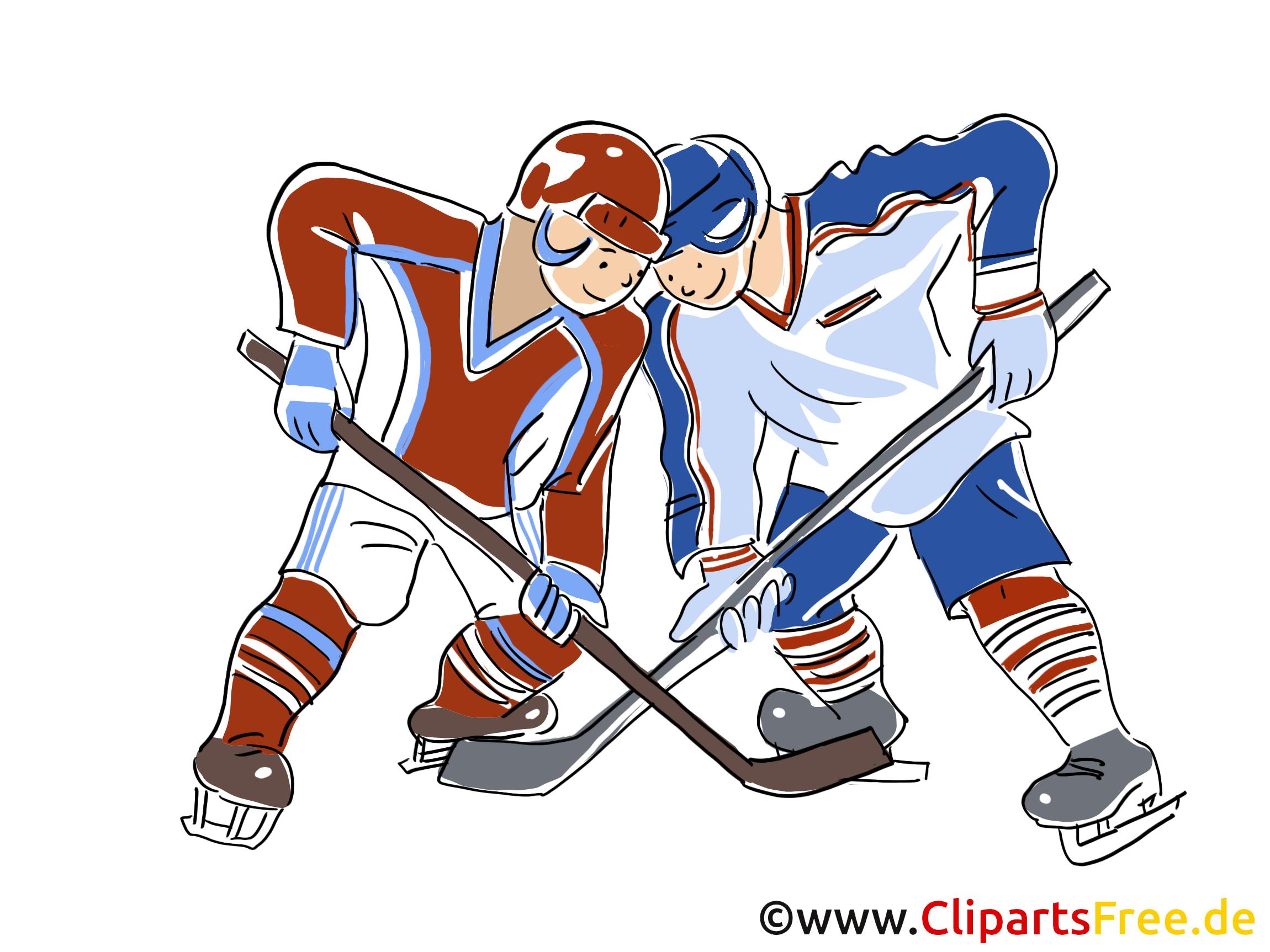 Eishockey WM Clipart, Bild, Comic, Cartoon, Illustration kostenlos