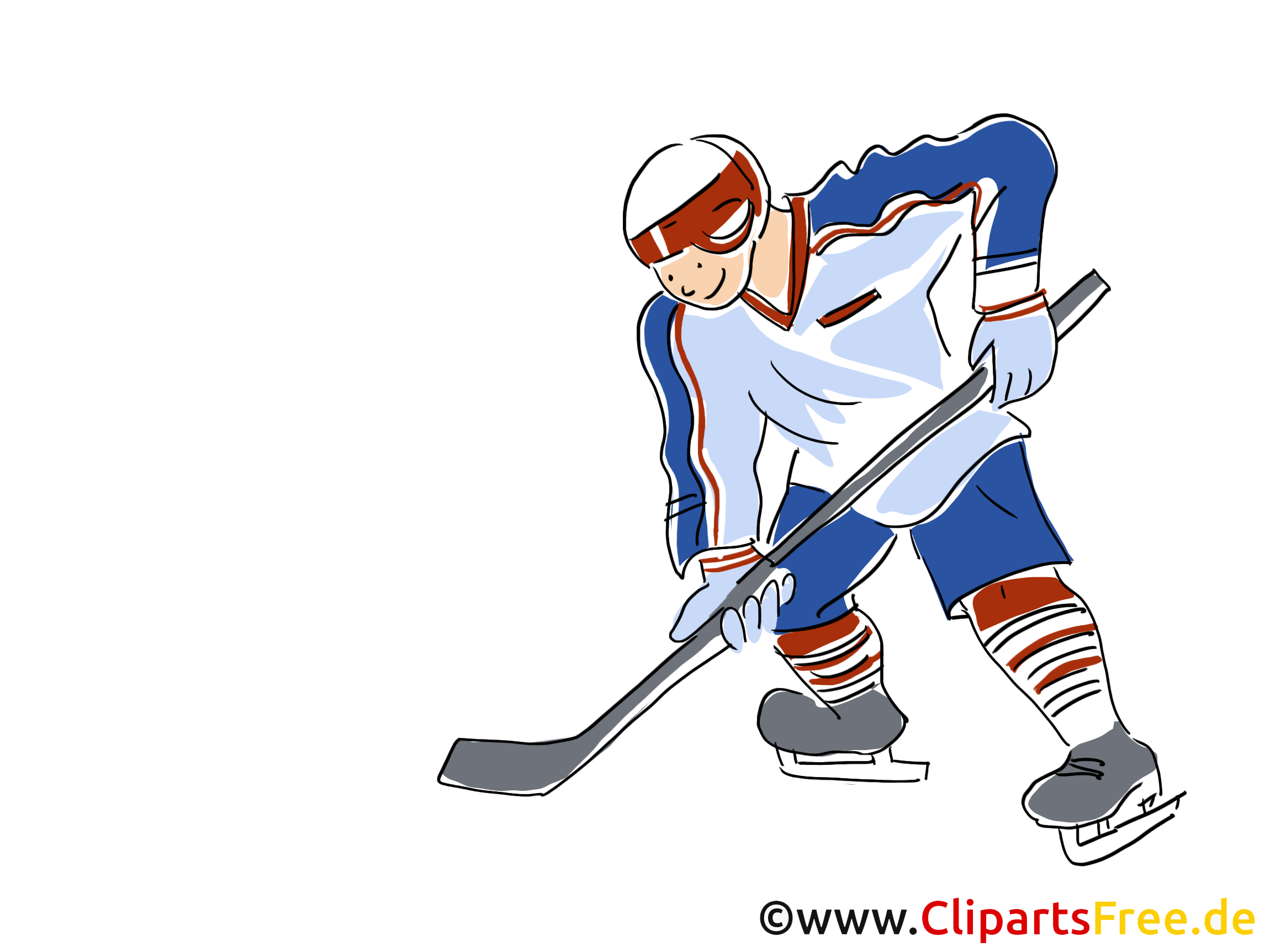 eishockeyspieler clipart bild comic cartoon