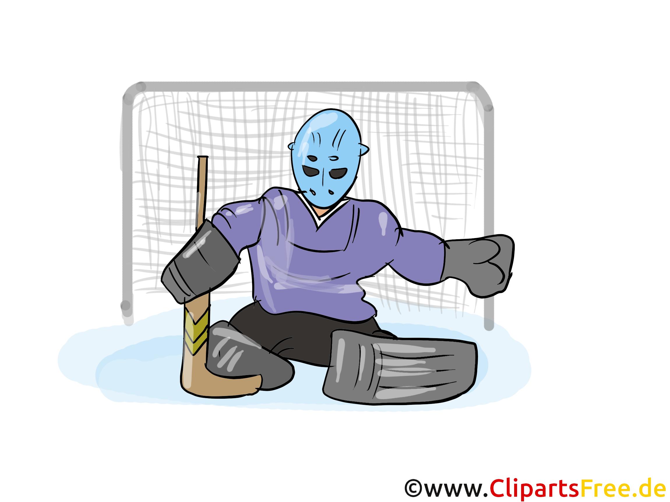 Goalkeeper ice hockey clipart free