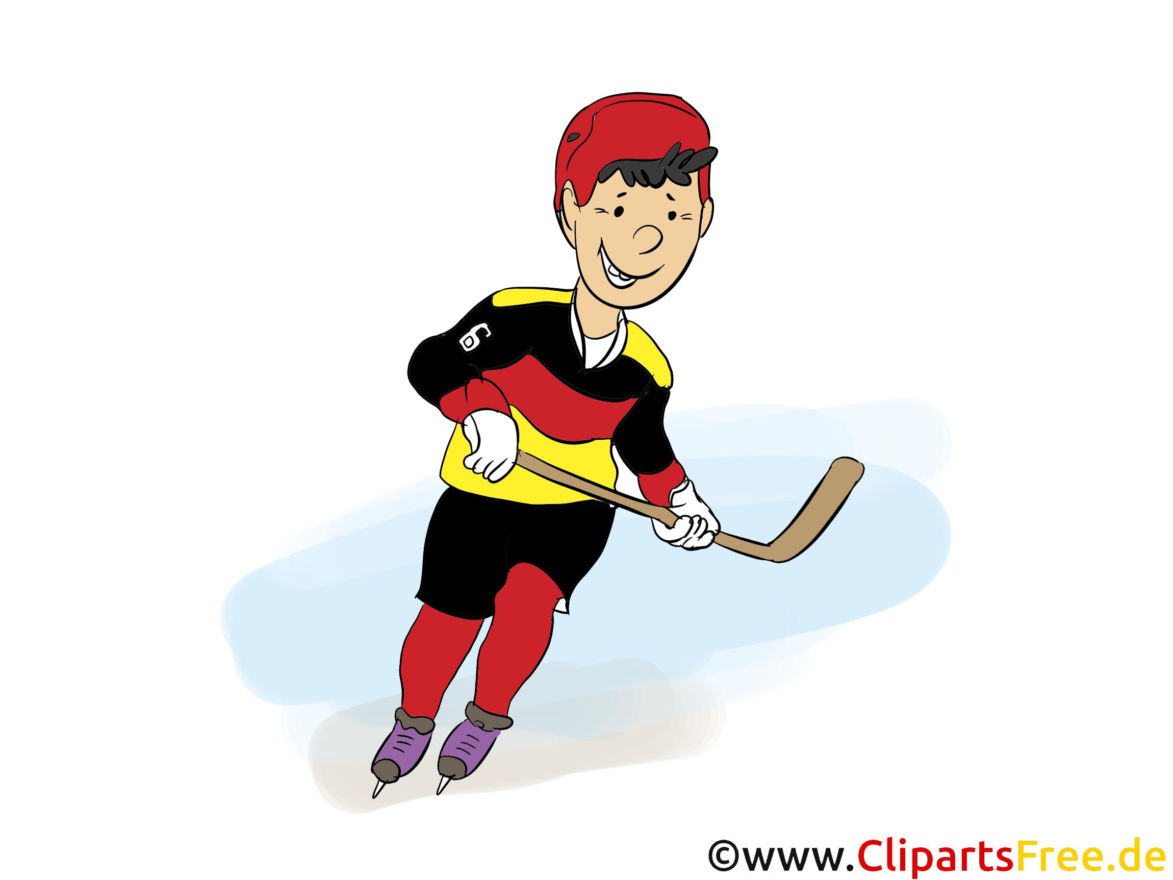 Ice hockey player clipart free