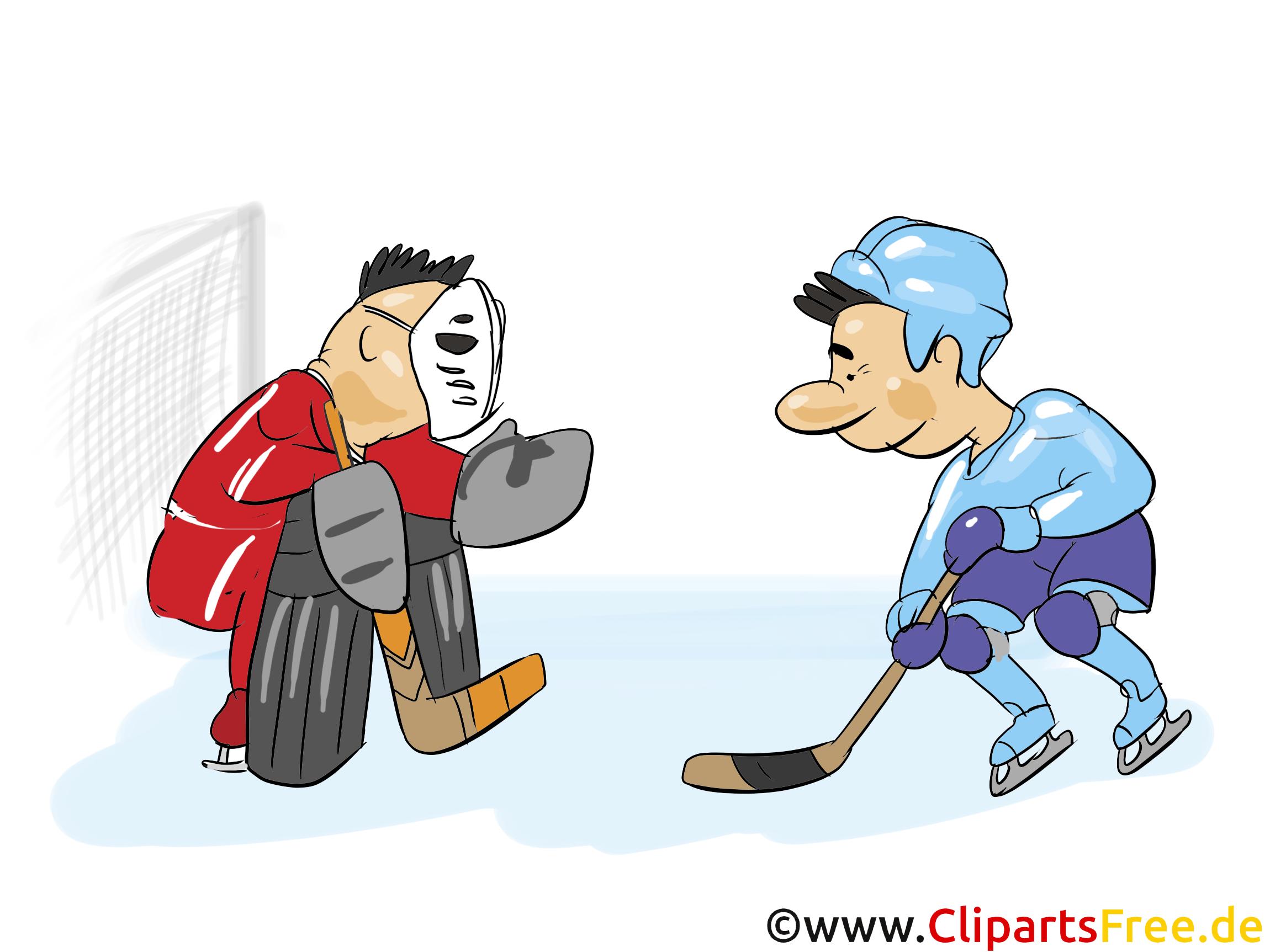 Siebenmeter Eishockey Clipart, Bild, Grfaik, Cartoon