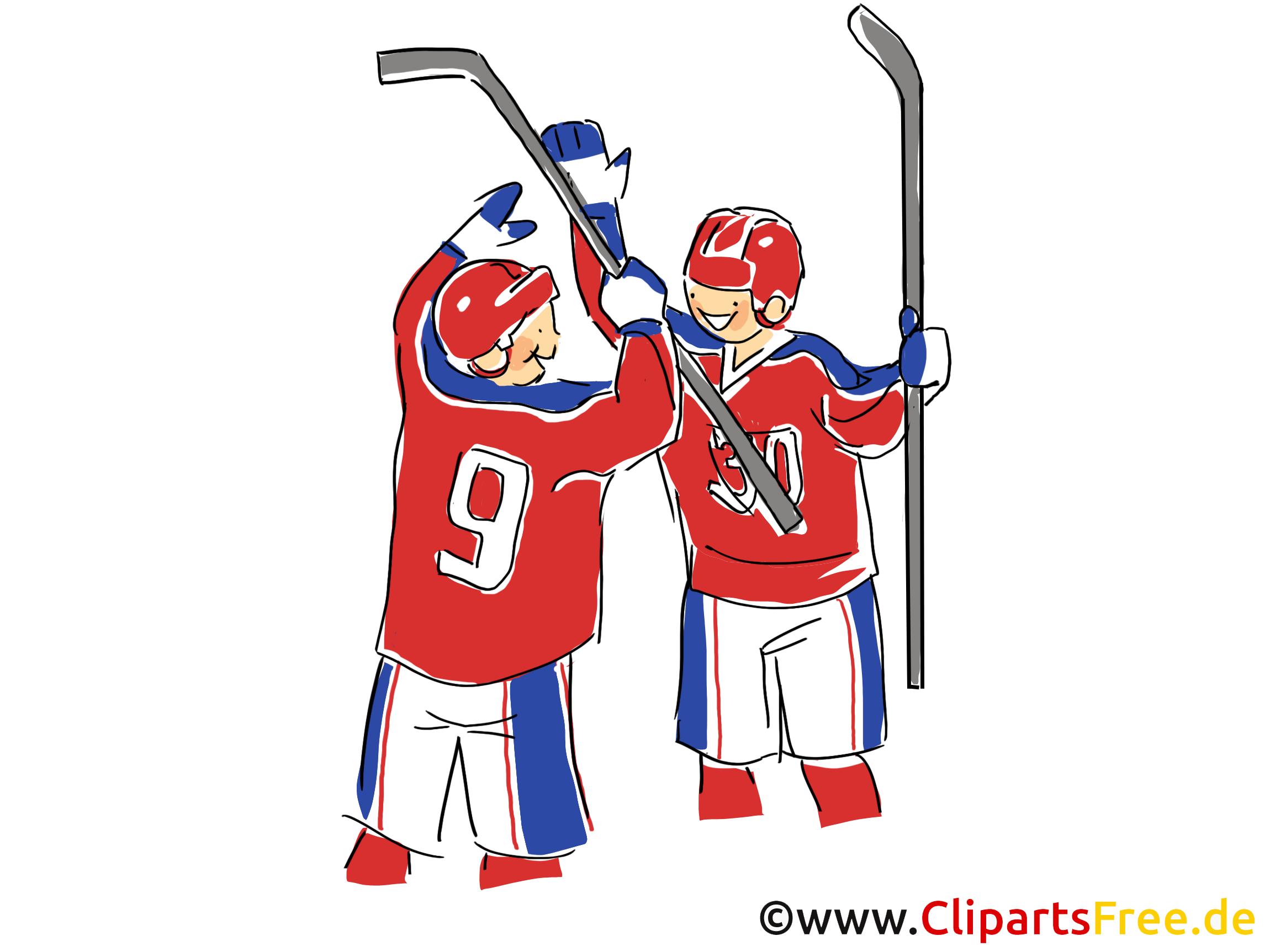 Tor Eishockey Bild, Illustration, Clipart, Comic, Cartoon gratis