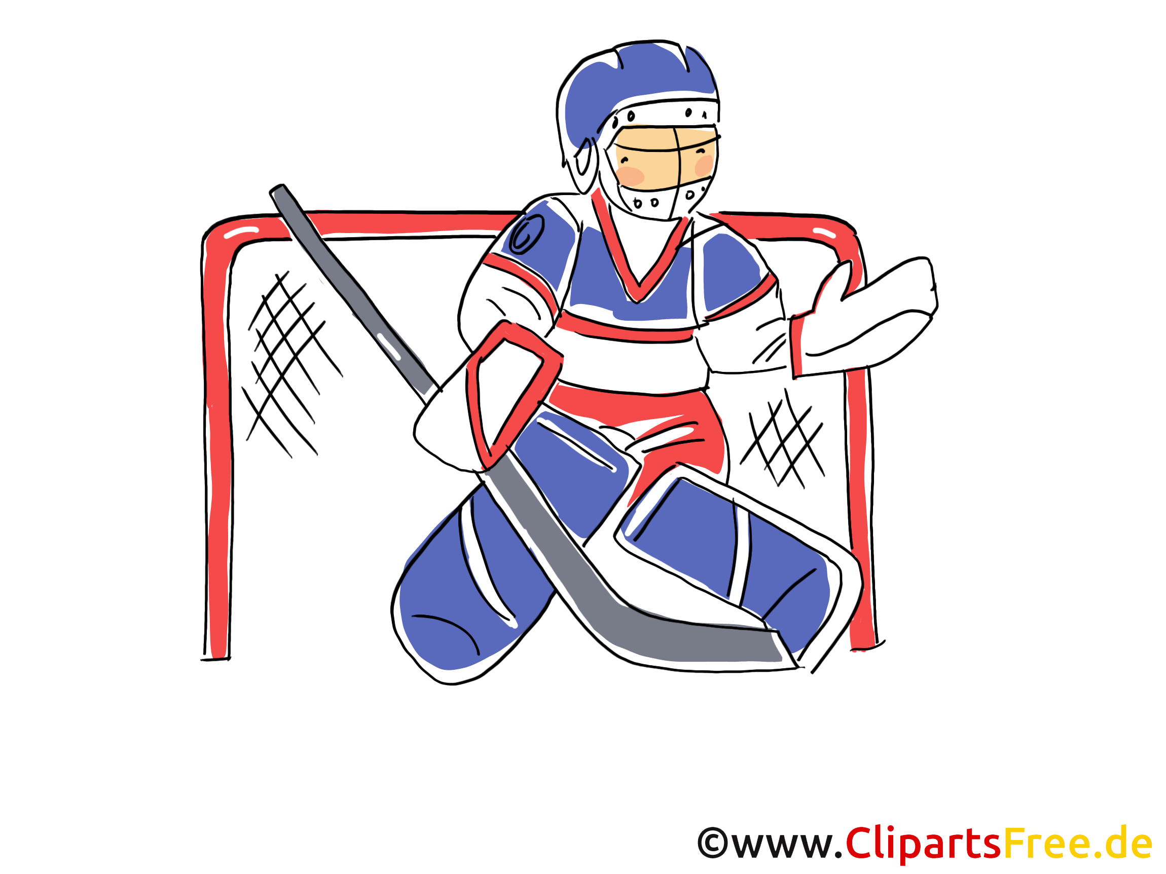 Torwart Eishockey Bild, Illustration, Clipart, Comic, Cartoon gratis