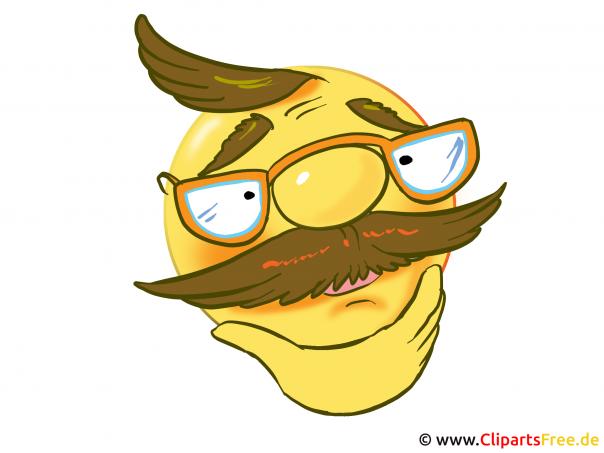 Dziadek w okularach bez emotikonów