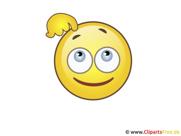 Smiley myśląca twarz
