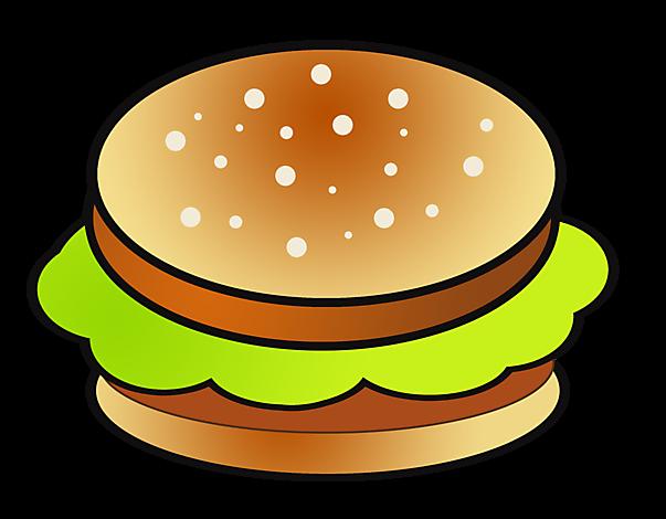 Clipart Hamburger - Essen Bilder