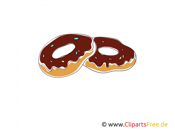 Donats Clipart, Bild, Illustration kostenhlos