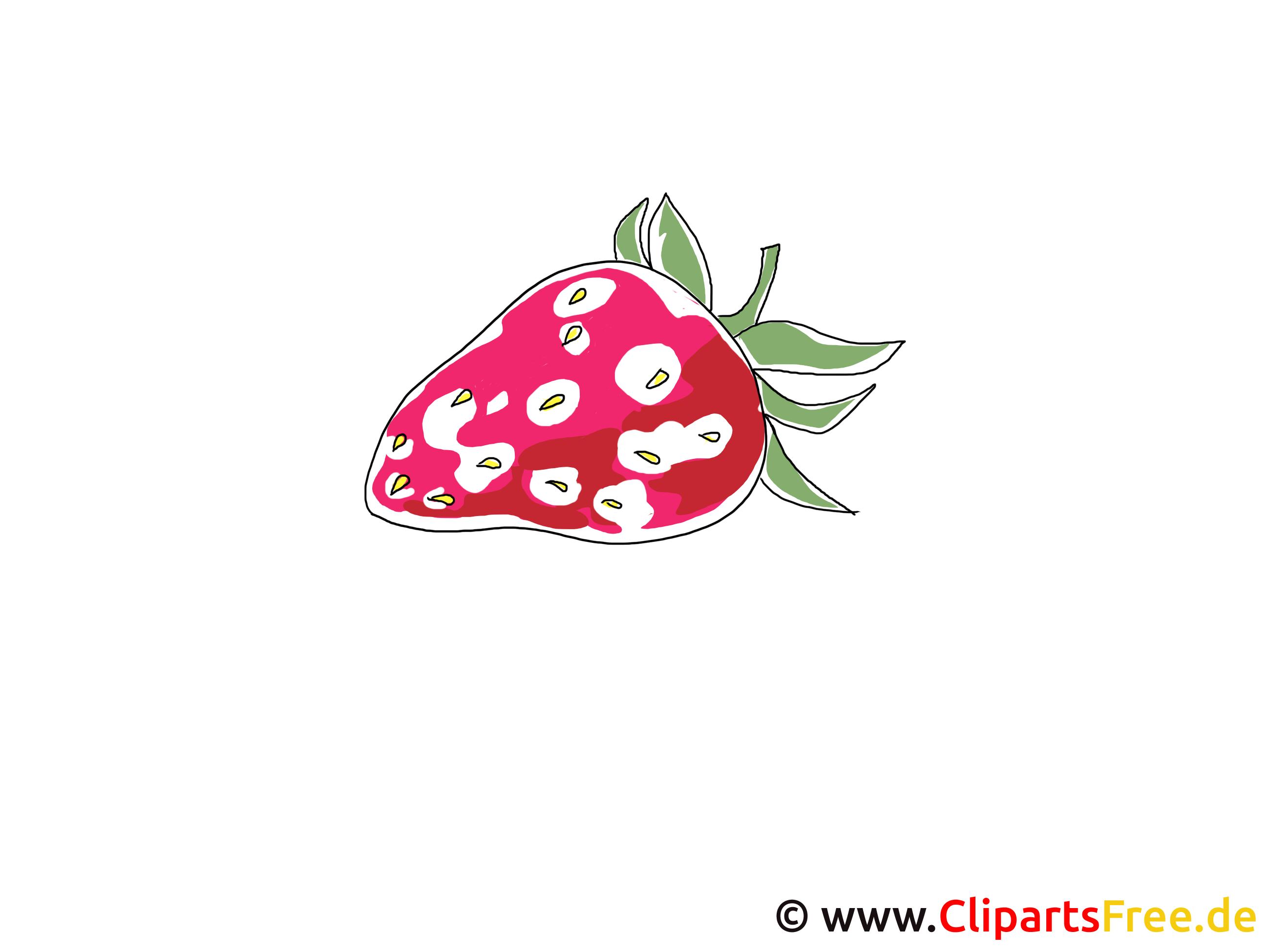 Clipart-aardbei gratis