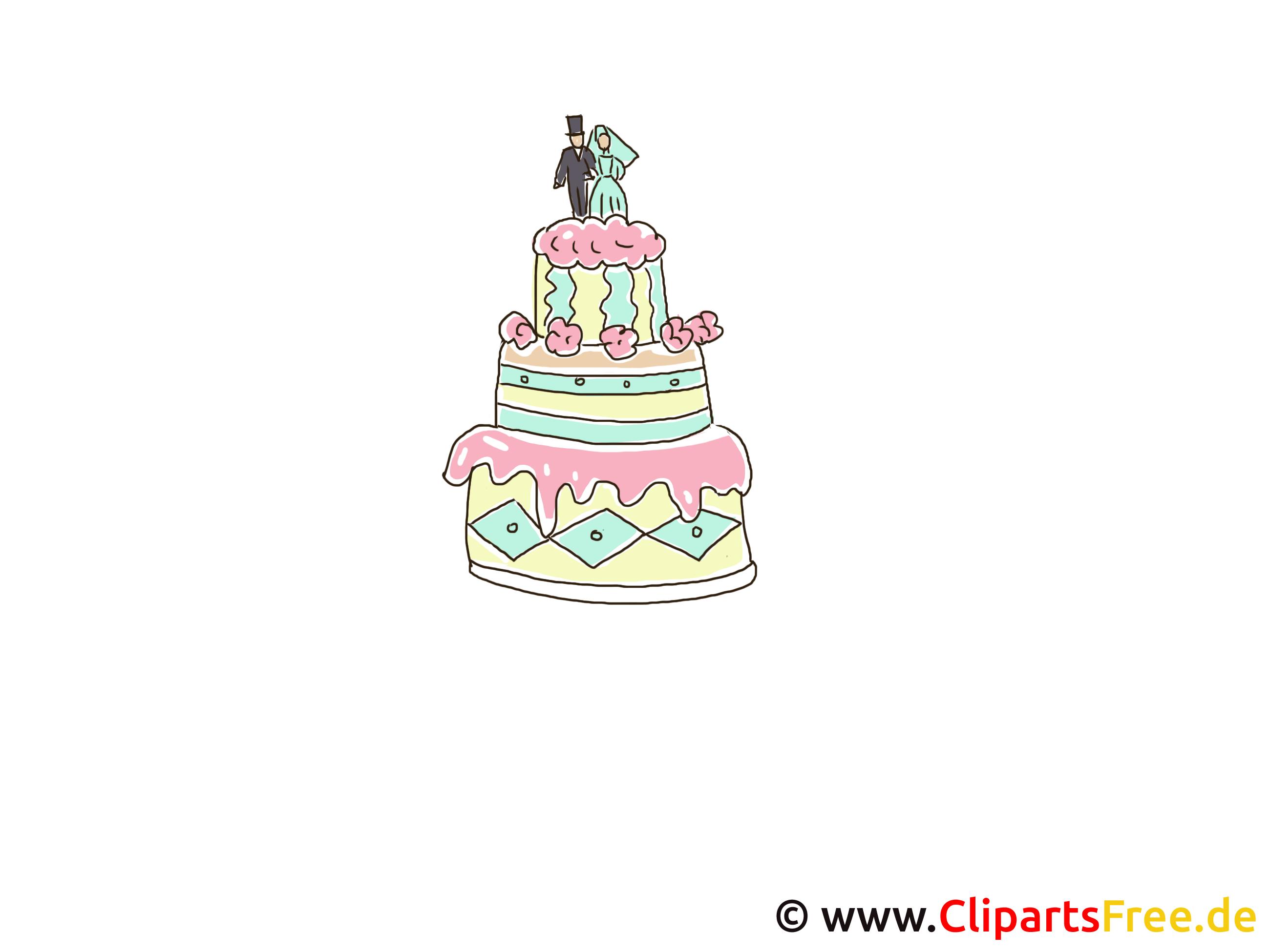 Bruidstaart clipart