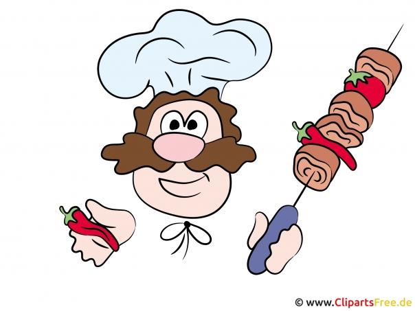 Cook cartoon