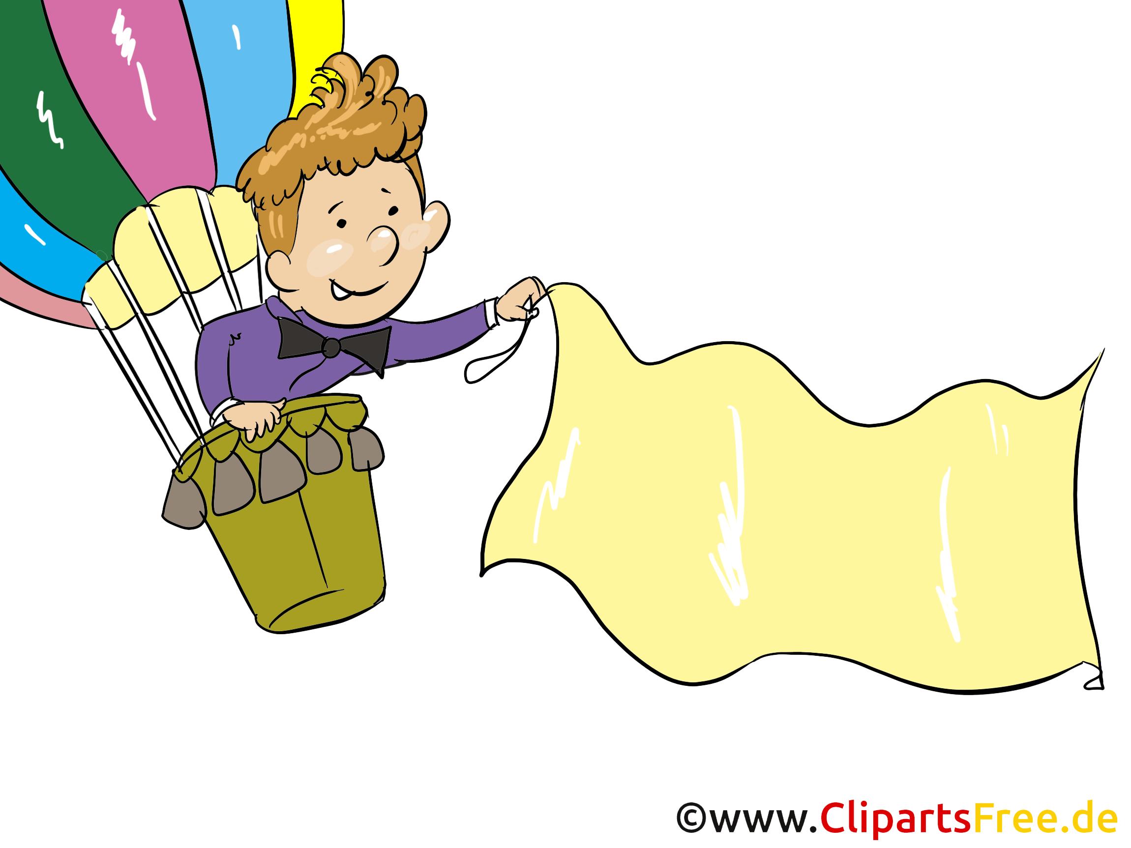 Luftballon Mit Flagge Clipart Bild Grafik Cartoon