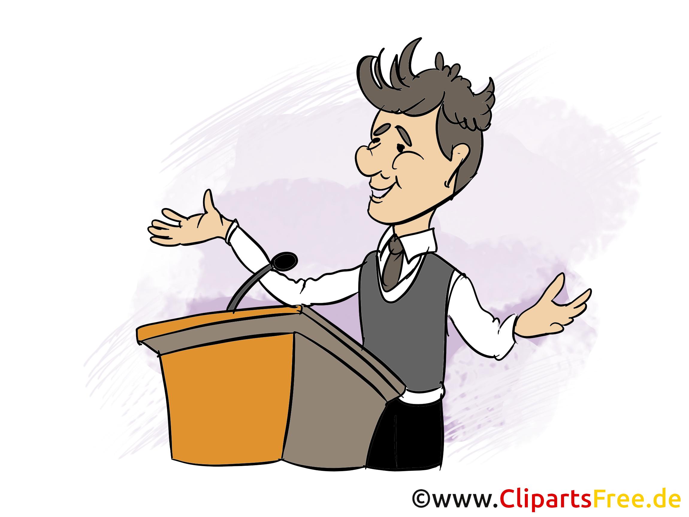 Parteileader Bild, Clipart, Grafik, Cartoon, Illustration