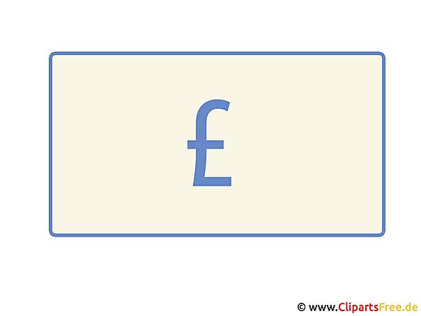 Pfundzeichen Clipart