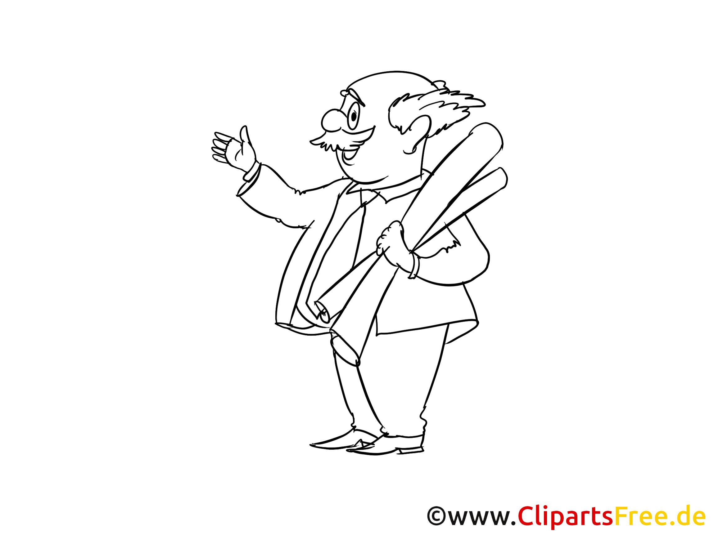 Professor Clipart, Bild, Zeichnung, Cartoon