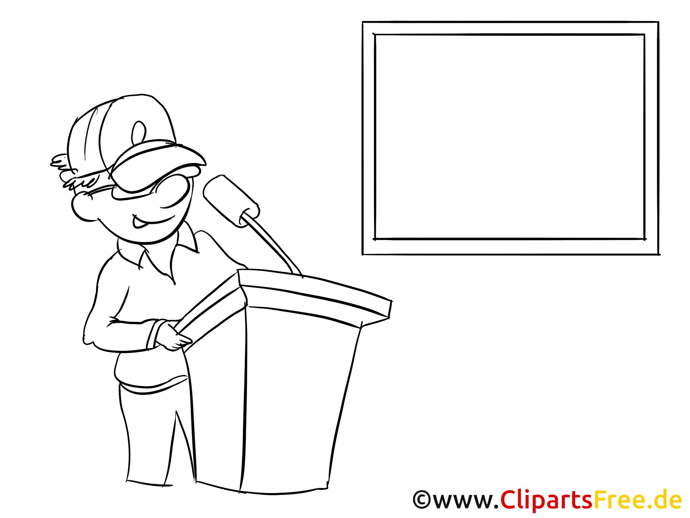 Rede halten Clipart, Bild, Zeichnung, Cartoon