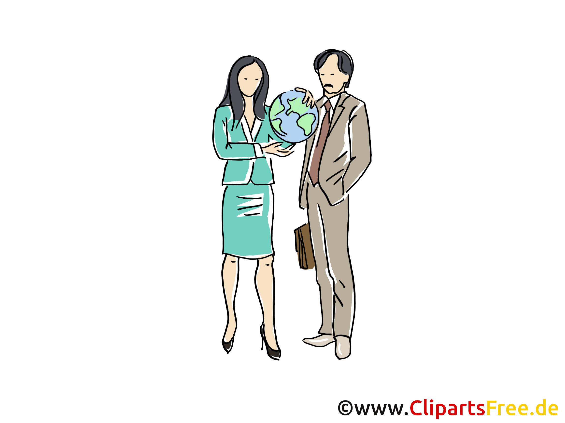 Reisebüro Clipart, Grafik, Bild, Cartoon