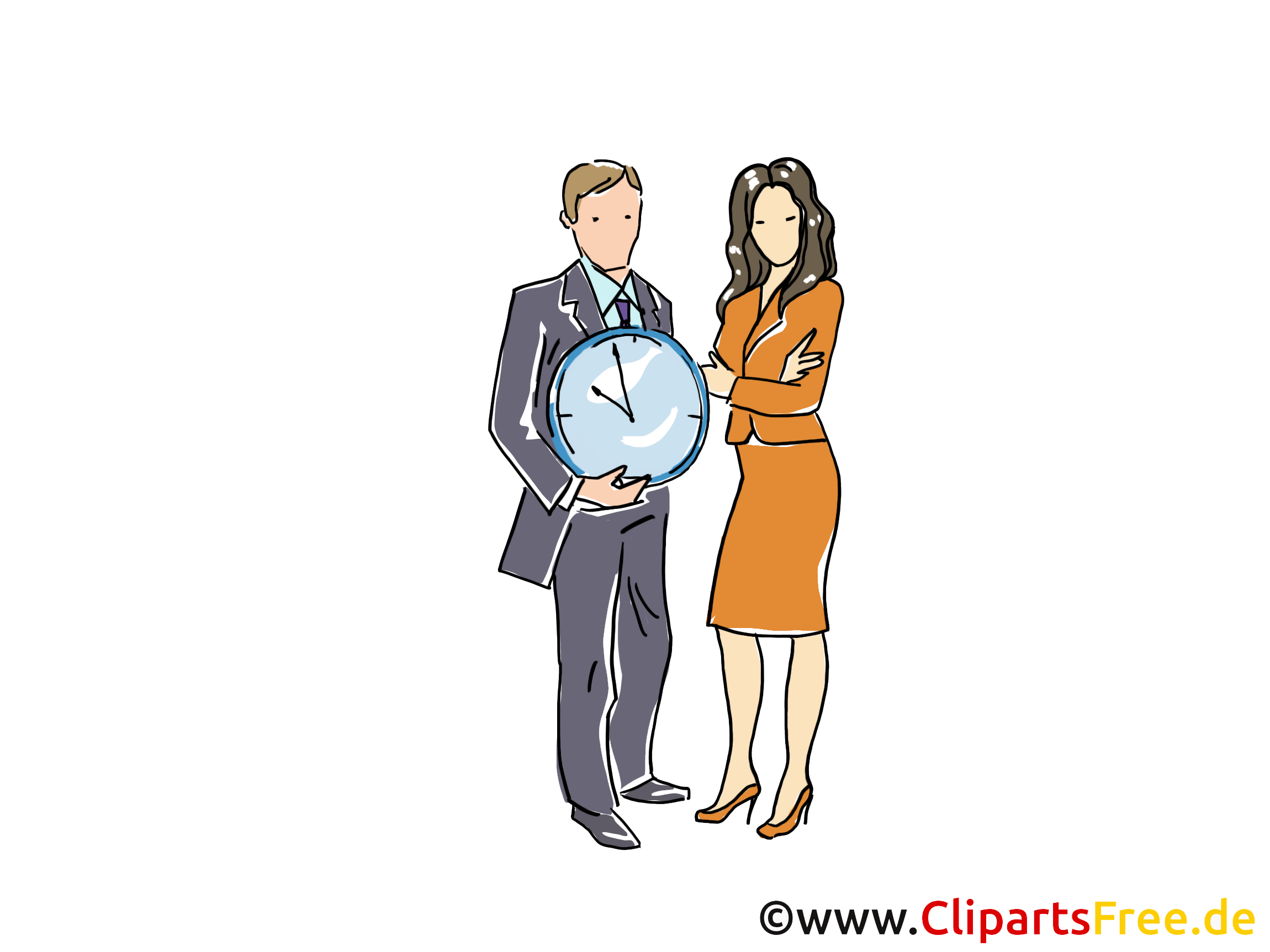 Zeitmanagement Clipart, Grafik, Bild