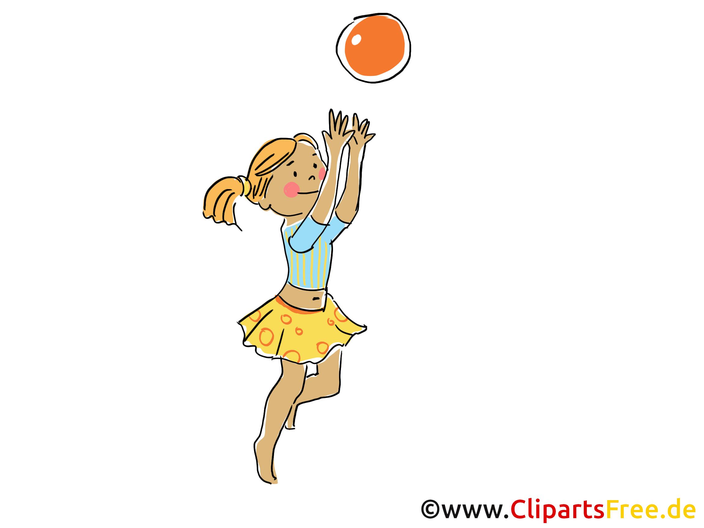 M dchen spielt volleyball clipart bild cartoon comic grafik - Grafik weihnachten kostenlos ...
