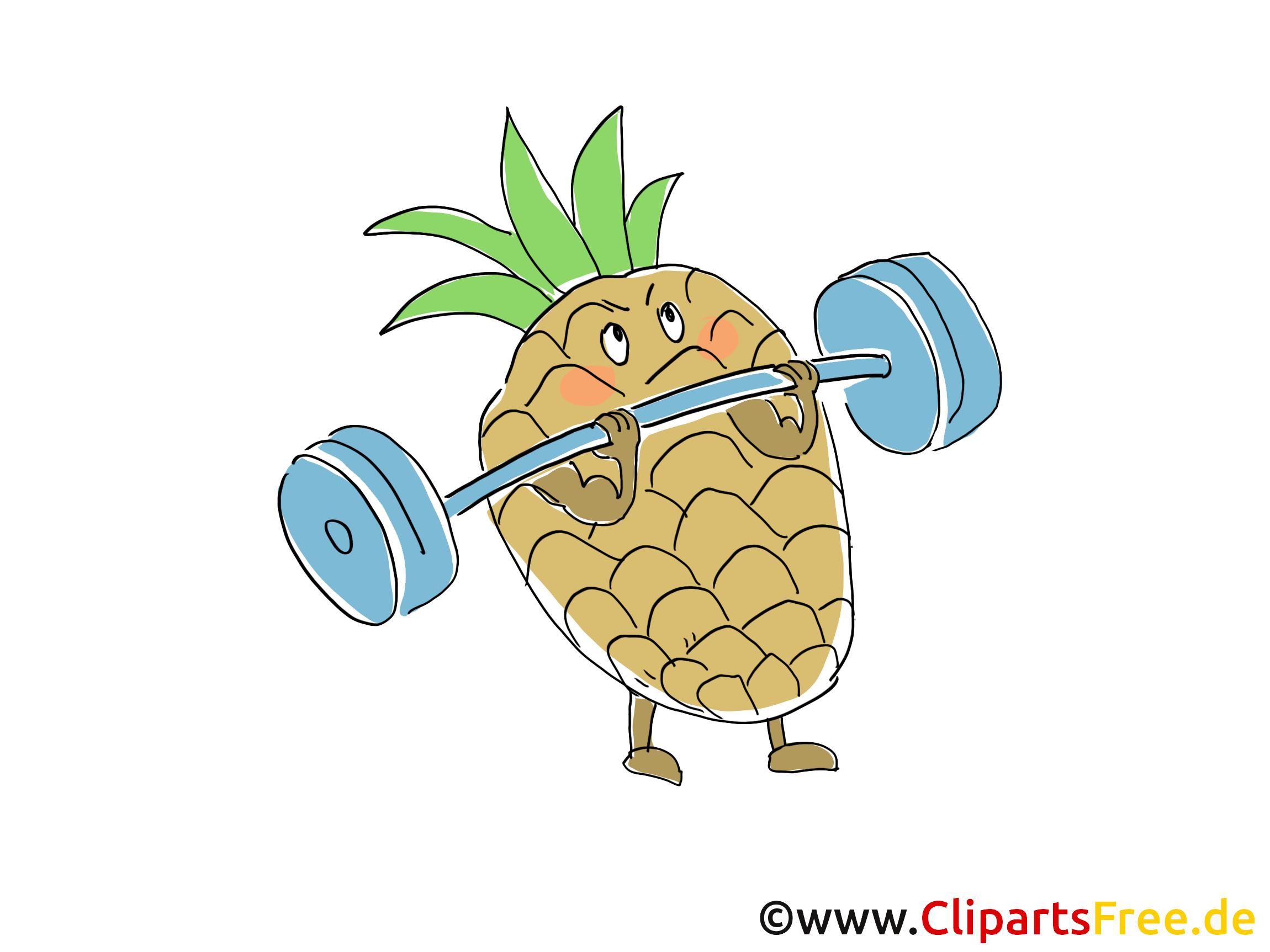 Ananas Clipart, Bild, Cartoon gratis