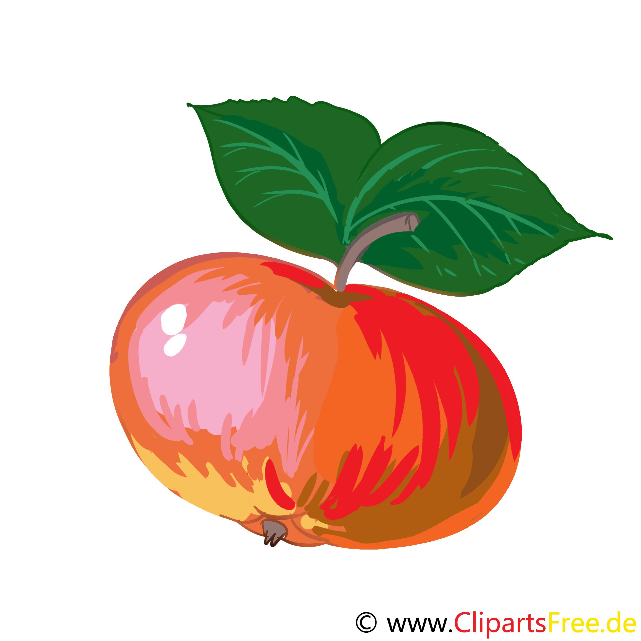 Apfel Cartoon, Bild, Illustration, Clip Art