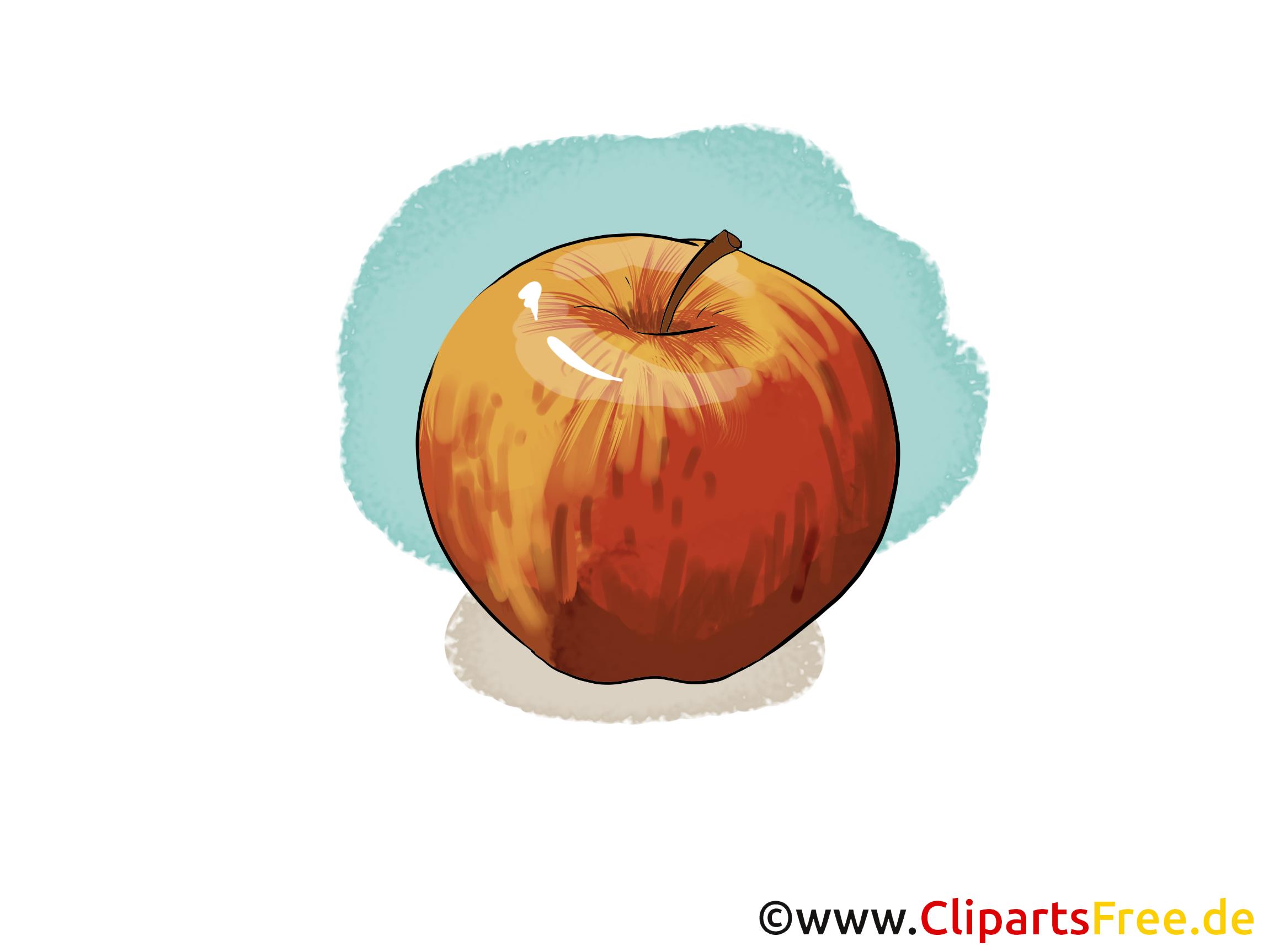 Apfel rot Illustration, Bild, Clipart kostenlos
