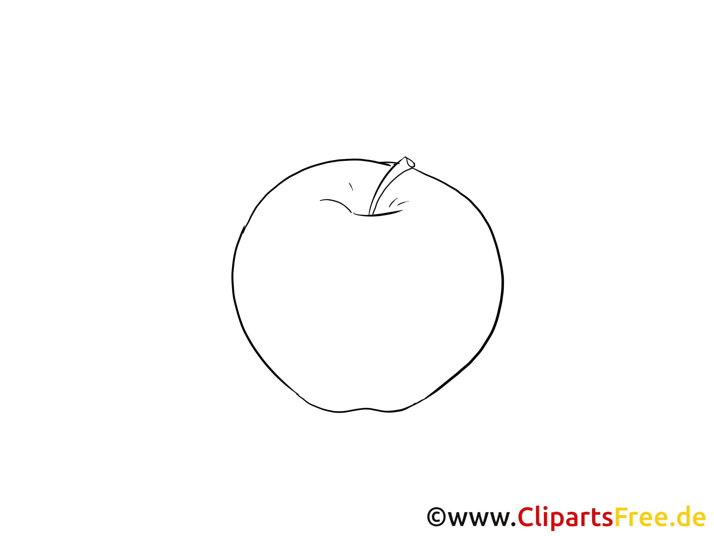 Bild zum Malen Apfel
