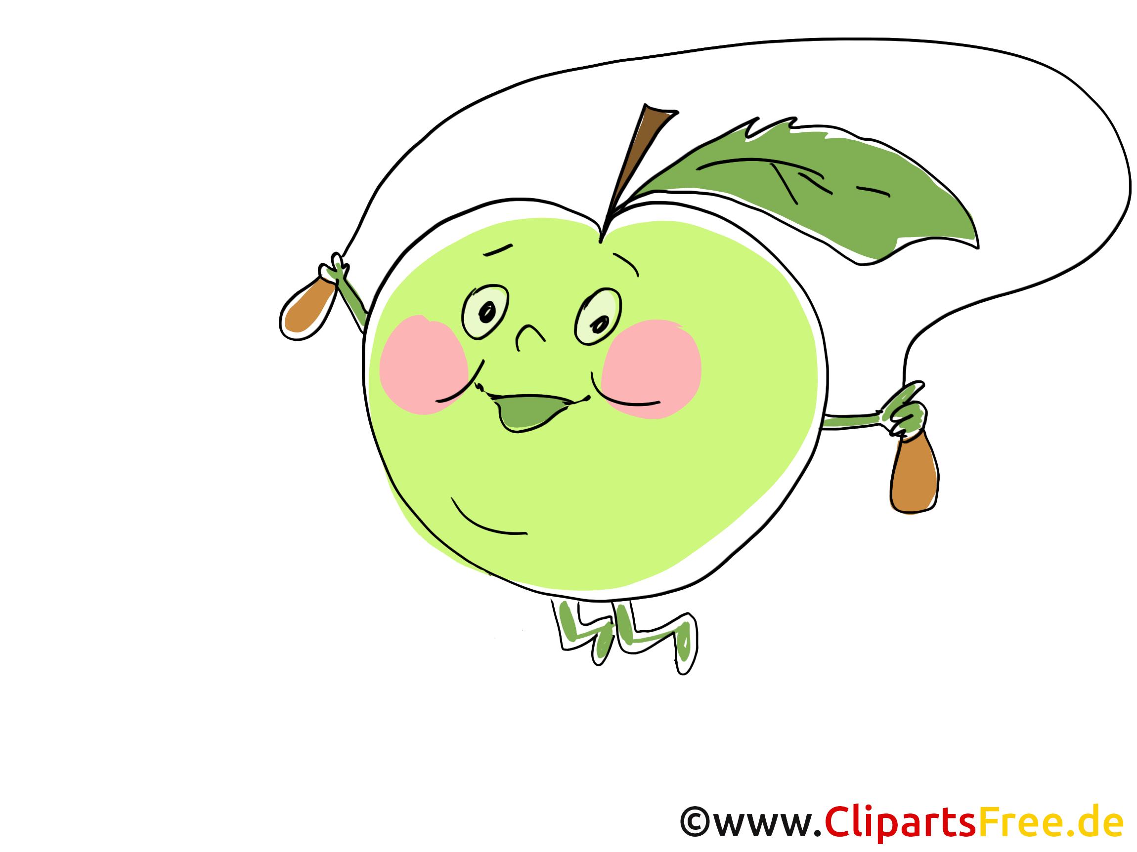 Cartoon Apfel