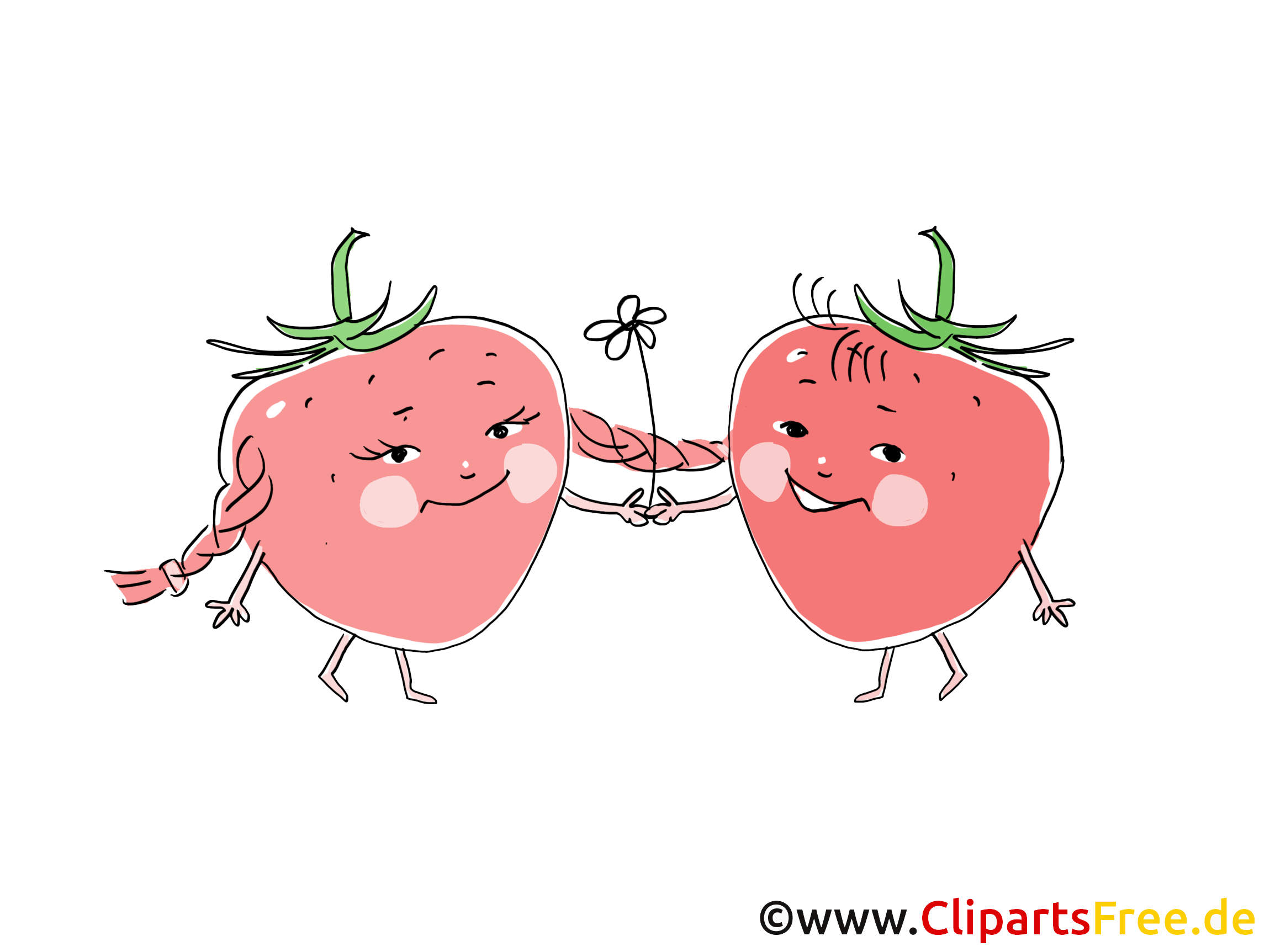 Erdbeeren Cartoons