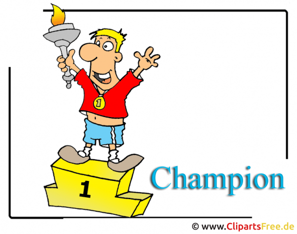 Champion Cartoon-Clipart Olympiade