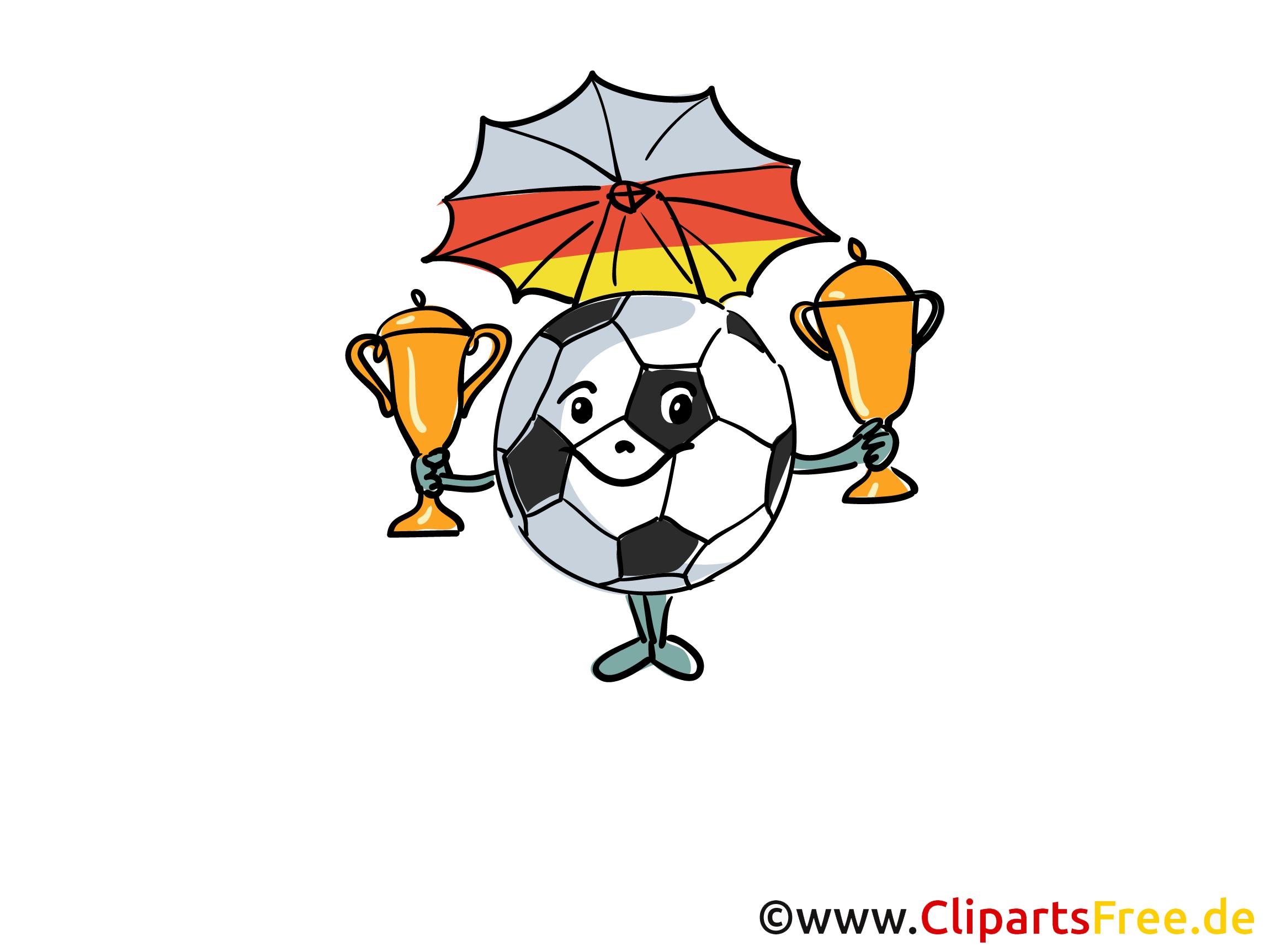 Clipart Fussballpokals