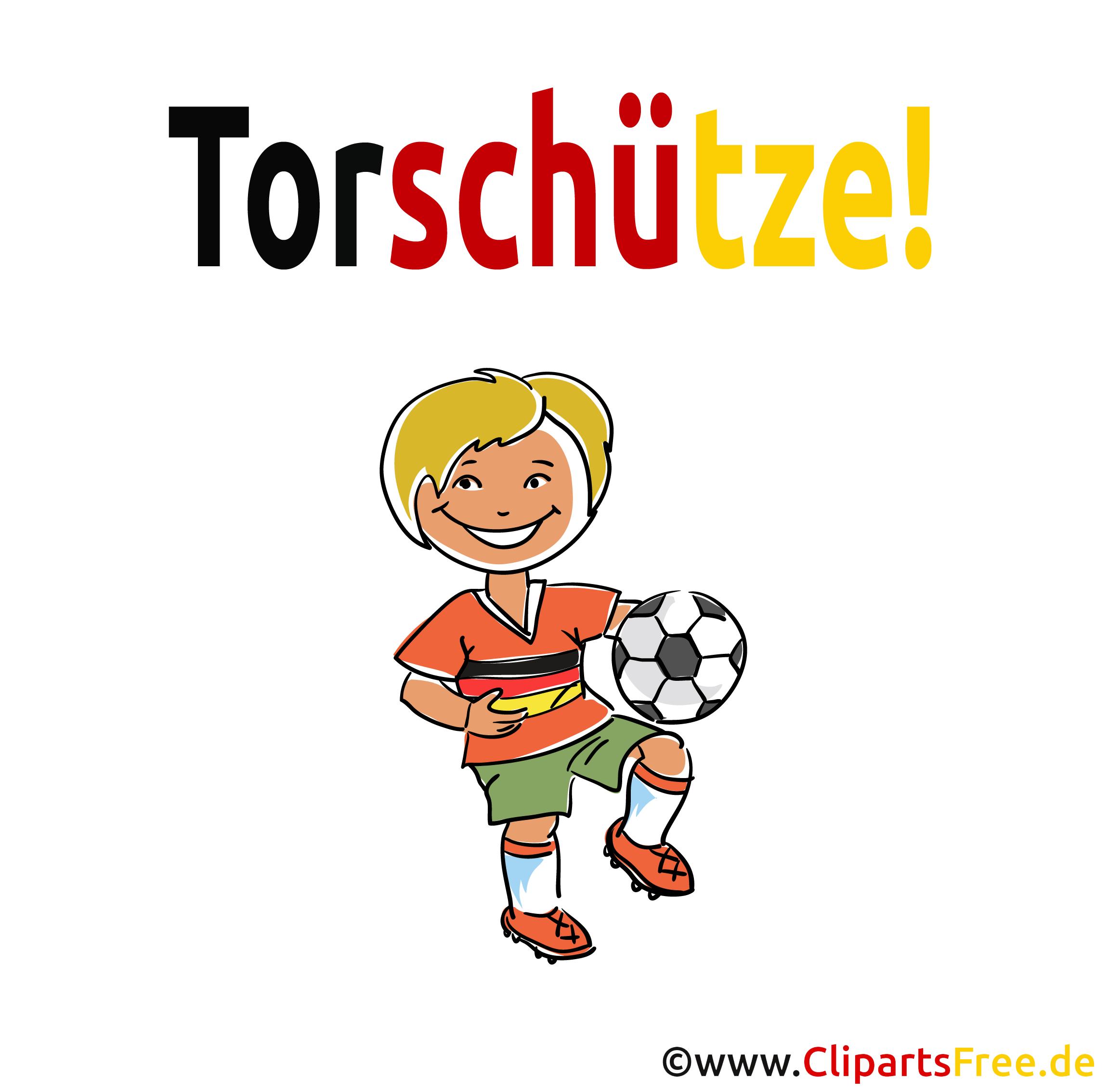 Clipart Junge Spielt Fussball