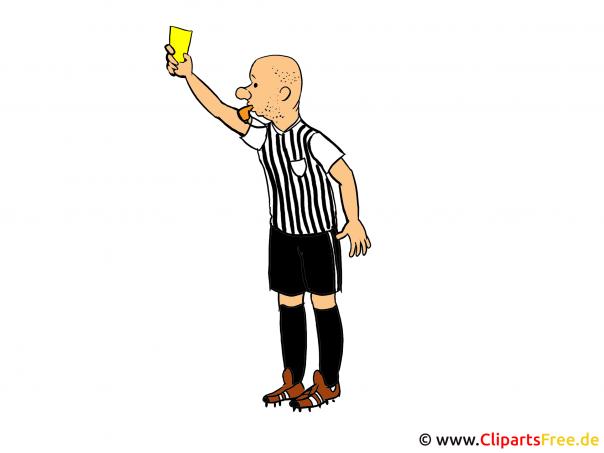 Cliparts Fussball-Schiedsrichter