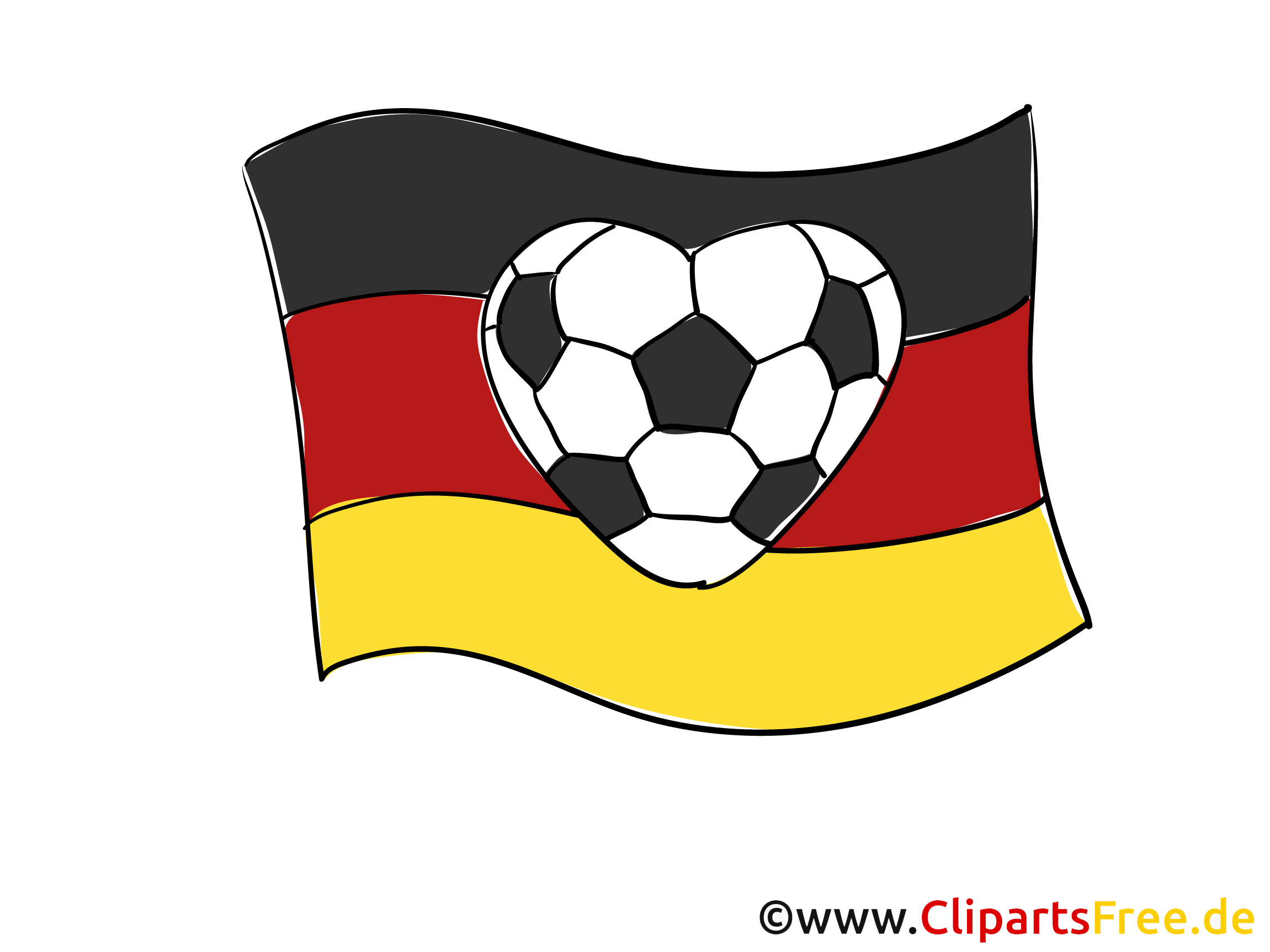 Football and German flag Clip Art free