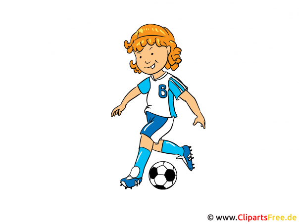 Frauenfussball Bild, Clipart, Illustration, Cartoon