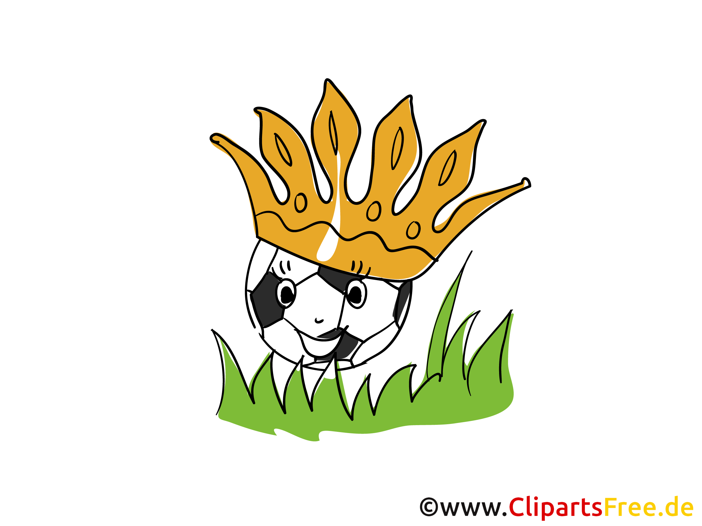 Fussball-Krone Clipart-Bild