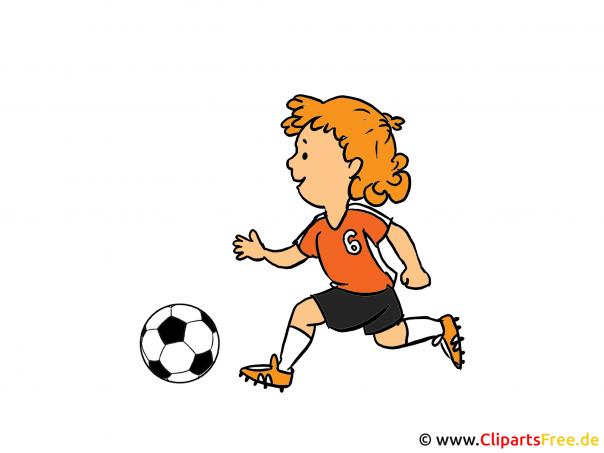 サッカーのクリップアート