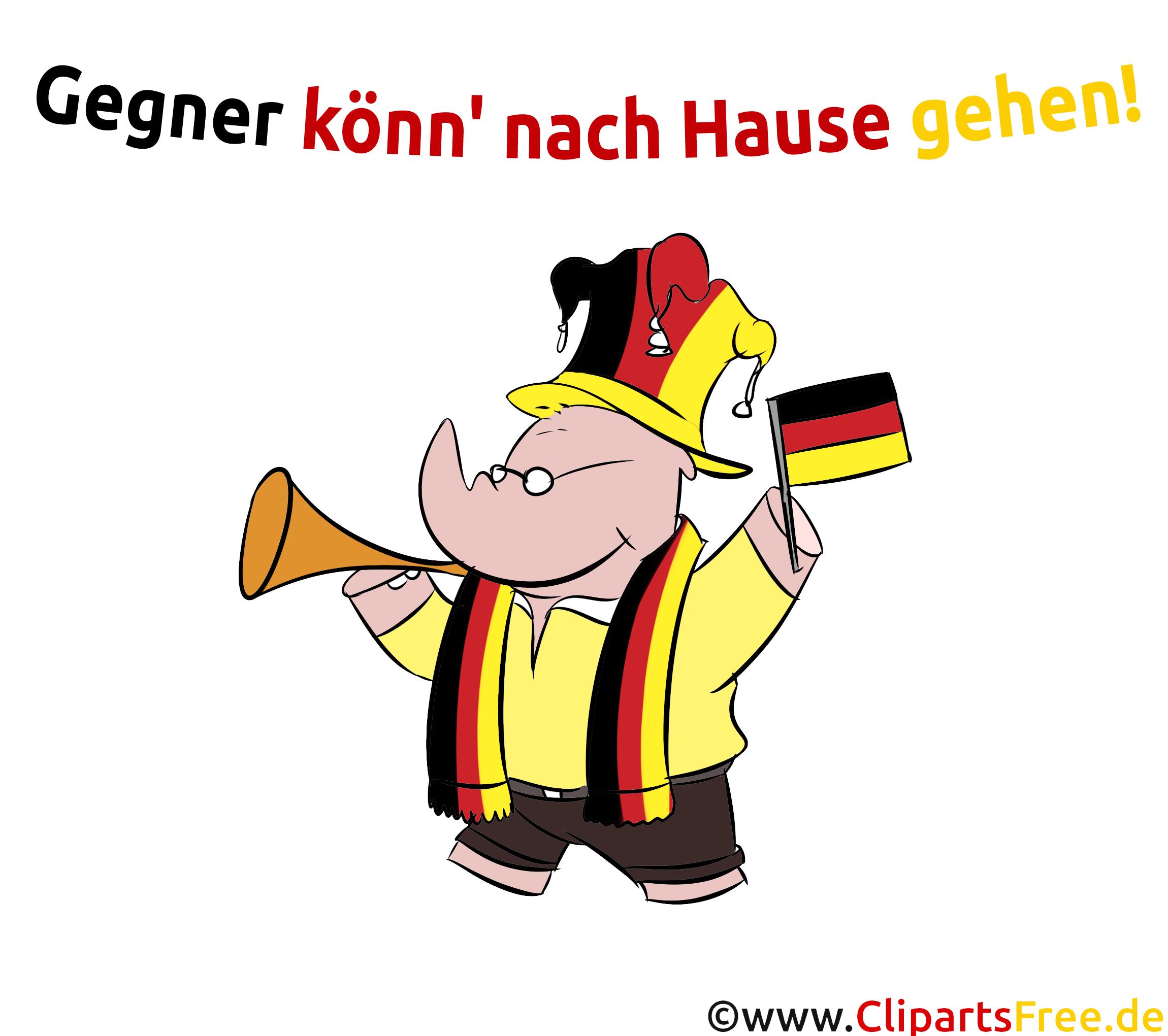 Voetbalfan Duitsland Clipart Beeld