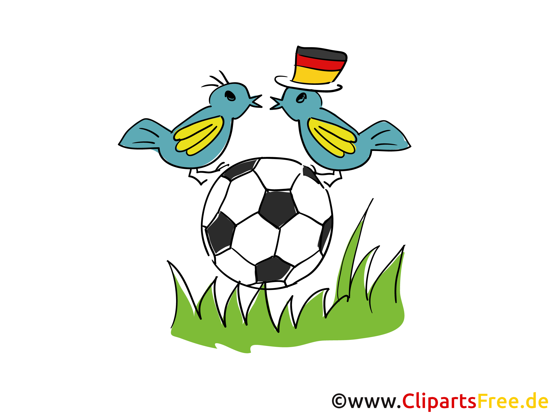 Fussball Grafik, Clipart, Bild, Cartoon