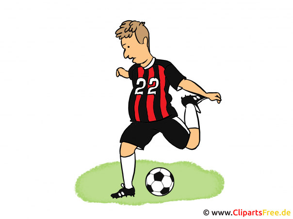 Fussball Illustration, Cartoon, Bild, Clipart