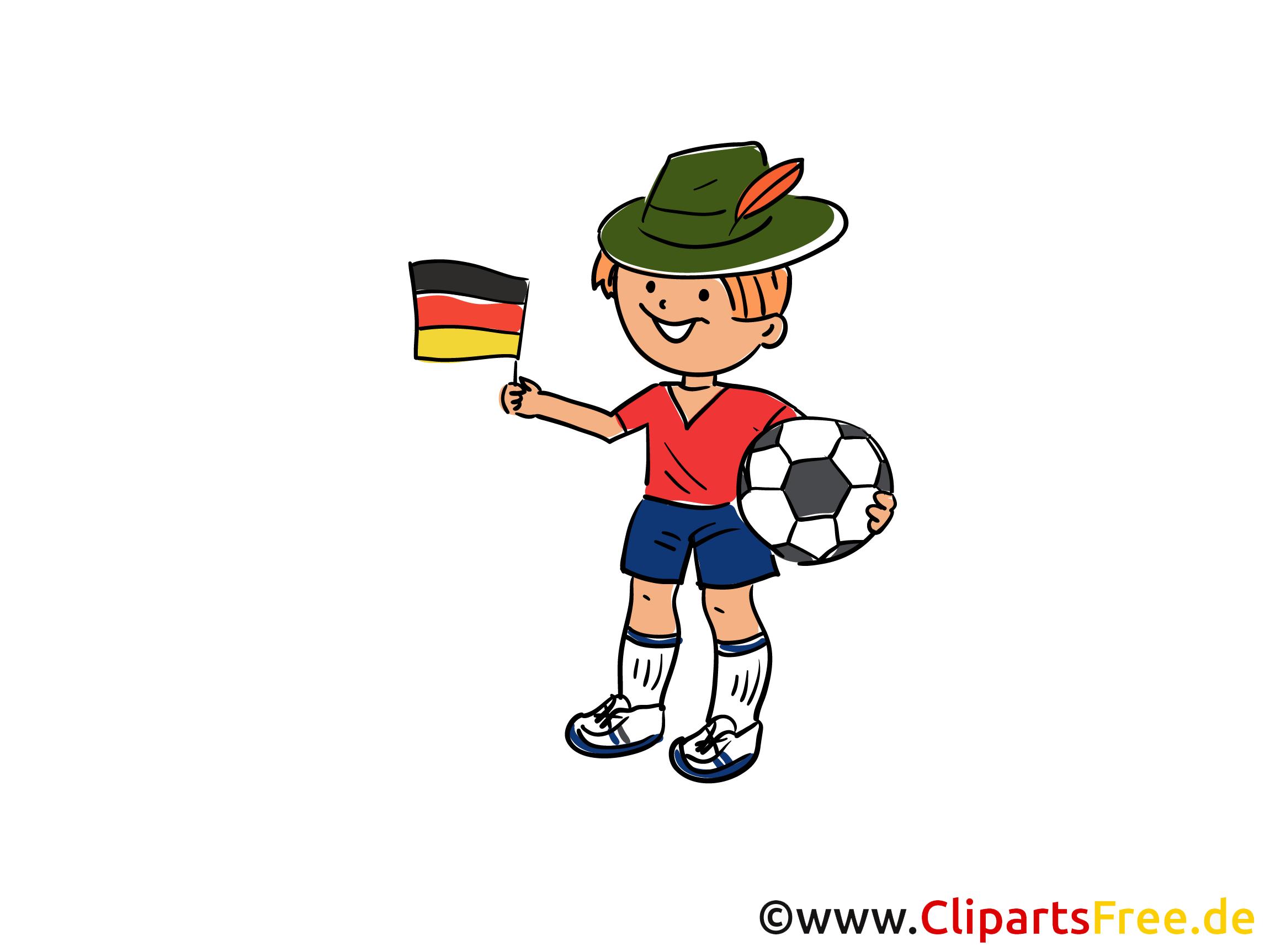 Fussball Illustration im Cartoonstil