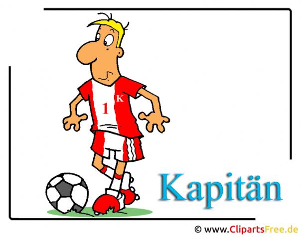 Fussball Illustrationen kostenlos - Fussballkapitaen